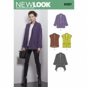 6397 New Look Pattern: Womans Jacket and Gillet